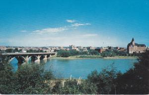 Elevated View City of Bridges , SASKATOON , Saskatchewan , Canada , PU-1960