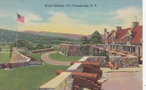 New York Fort Ticonderoga The South Platform Curteich