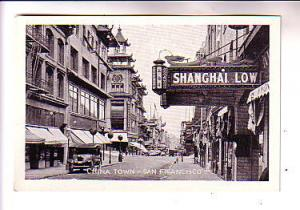 B&W Mini Series Street in China Town San Francisco California