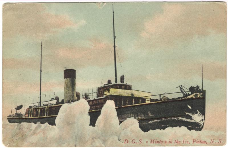 DGS MINTO in ice, Pictou, NS, 1907