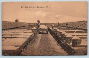 Postcard NY Syracuse The Salt Industry c1908 View V14