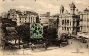 CPA Geiser 60 Oran Le Théátre et Place d'Armes ALGERIE (756801)