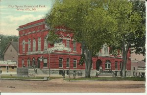 Waterville, Me., City Opera House and Park