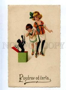 184700 Pozdrav od certa KRAMPUS in Box & Kids Vintage Color PC