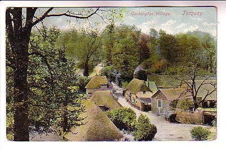 Cockington Village,  Torquay,  England, Used 1905
