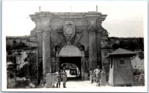 Vintage Havana, Cuba RPPC Postcard Entrance to Cabana Fortress Romay Photo