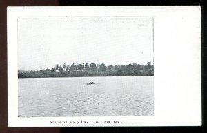 dc549 - DUNHAM Quebec c1905 Selby Lake Postcard