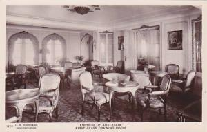 RP; Empress of Australia, First Class Drawing Room, Ocean Liner, 10-20s