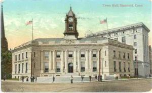 Town Hall, Stamford, Connecticut, CT, 1908 Divided Back