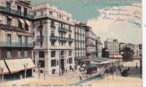 Algeria Algiers La Compagne Algerienne et Place Bresson 1920