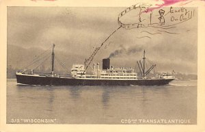 SS Wisconsin French Misc Lines Ship Unused