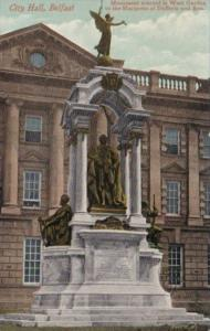 Northern Ireland Belfast City Hall With Marquess Of Dufferin & Ava Monument