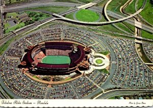 Hawaii Honolulu Aerial View Aloha Stadium