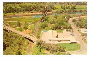 Aerial View, White Sands Motel & Restaurant, Cotter, Arkansas, 40-60's