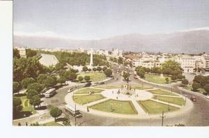 Postal 036369 : Santiago de Chile: vista de la Plaza Baquedano con los Andes ...