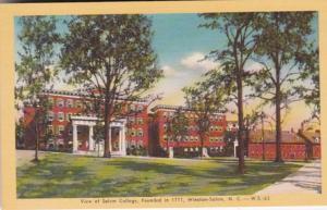 North Carolina Winston Salem View Of Salem Cllege Founded 1771