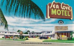Florida Miami The Sea Cove Motel 1957 sk3619