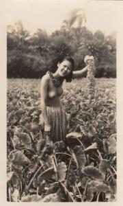 RP: Topless girl in field , 00-10s