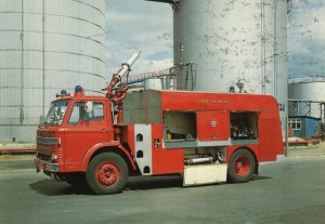 Pyrene Foam Tender London Fire Brigade Engine Postcard
