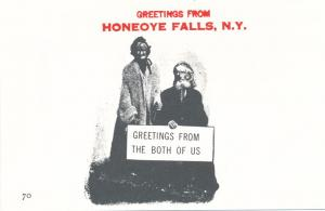 Greetings from Both of Us in Honeoye Falls NY, New York - Village Print Humor