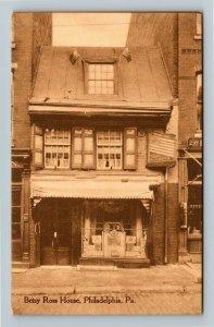 Philadelphia PA-Pennsylvania Betsy Ross House Vintage Postcard