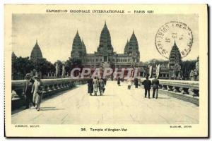 Old Postcard Exposition Coloniale Internationale Paris 1931 Temple D & # 39An...