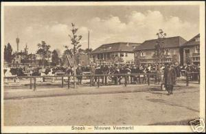 netherlands, SNEEK, New Cattle Market, Cow (ca. 1930)