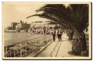 Postcard Old Saint Raphael Boulevard Felix Martin