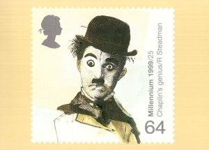 Charlie Chaplins Genius PHQ Rare Limited FDC Postcard
