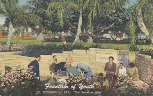 Florida St Petersburg Fountain Of Youth 1953 Curteich
