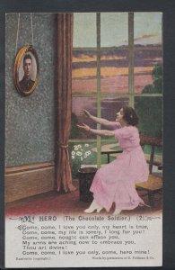 Poem Postcard - Bamforth - My Hero - The Chocolate Soldier - No 2 - RS7730