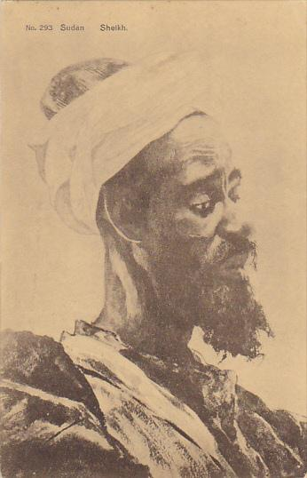 Sudan Sheikh In Typical Costume 1917
