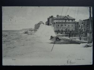 Kent DEAL A Rough Sea showing THE BEACH HOUSE TEMPERANCE HOTEL c1904 by J. Davis