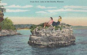 Ladies sitting on Drum Rock, LAKE OF THE OZARKS, Missouri, 1930-40s