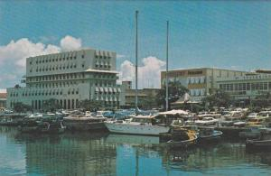 The New National Insurance Building and Sunjet House on the Careenage,Barbado...