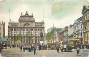 Cardiff the Hayes & Free Library tram c1910s animated postcard