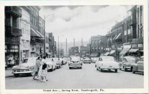 PA - Vandergrift, Grant Avenue facing West
