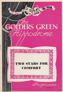 Two Stars For Comfort Drama Golders Green Theatre Programme
