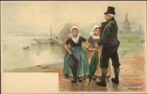 Holland Native Dutch People H. Cassiers c1900 Postcard WALCHEREN #1