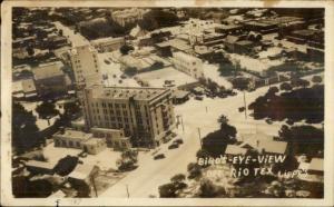 Del Rio TX Birdseye View Real Photo Postcard