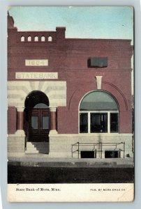 Mora MN-Minnesota, State Bank, Vintage Postcard