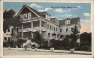 Miami FL Fort Dallas Hotel c1920 Postcard