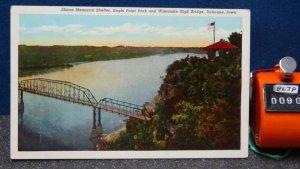 STD Vintage Shiras Memorial Shelter Eagle Point Park Wisconsin High Bridge Dubuq