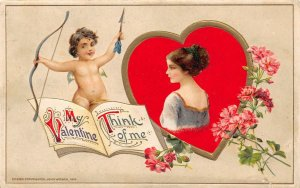 LP27  Valentine's Day Postcard Winsch Publisher Think of Me
