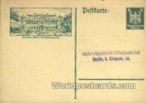 Der Palmengarten Frankfrut Main Germany Unused