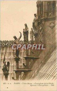 Old Postcard Foothills Paris Notre Dame de la Fleche