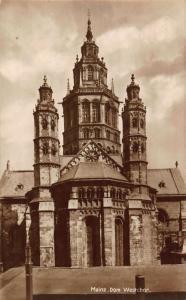 Mainz Dom Westchor Cathedral Postcard