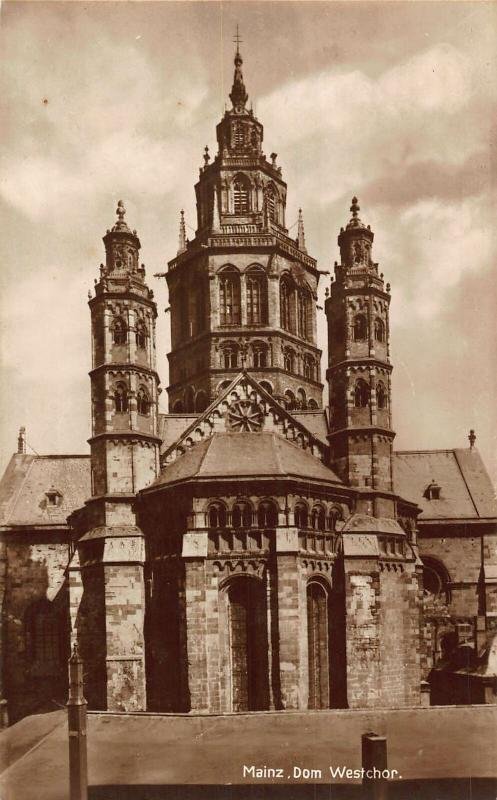 Mainz Dom Westchor Cathedral Postcard