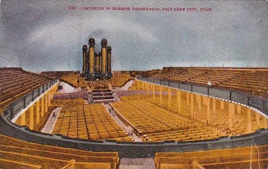 Utah Salt Lake City Interior Of Mormon Tabernacle