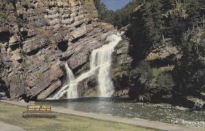 Waterfall, Cameron Falls, Waterton Lakes National Park, Alberta, Canada, 40-6...
